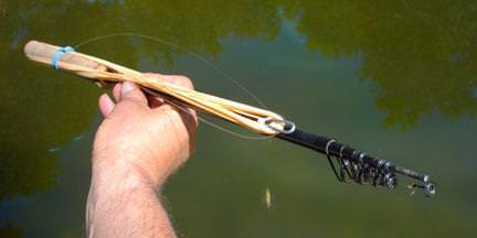 Заброс резинки для рыбалки видео
