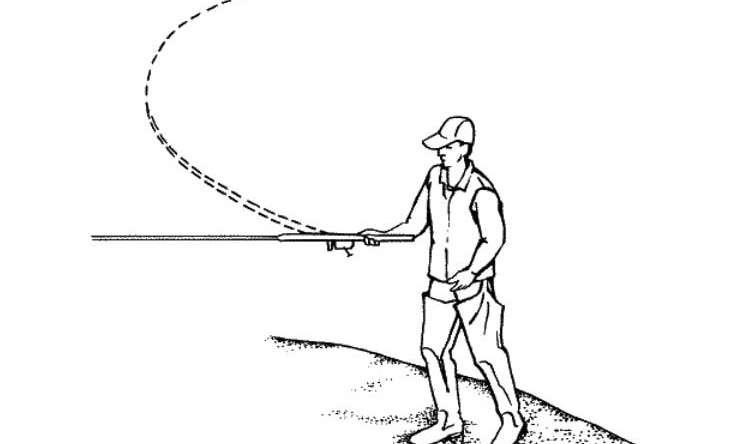 Горизонтальный боковой заброс спиннинга